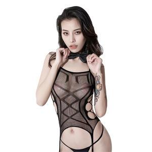 性感透明开档连体网衣免脱成人塑身袜激情套装情趣丝袜内衣11204 史黛丝