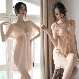 【情趣内衣】情趣性感透明网纱睡衣X3299 耶妮娅