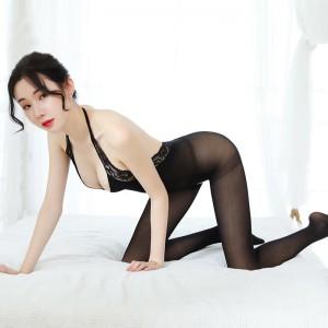 【情趣内衣】性感镂空情趣丝袜连身开档网衣 ZOCOLA/佐卡莲