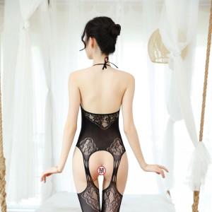 【情趣内衣】情趣开裆性感花纹吊带连体网衣  ZOCOLA/佐卡莲